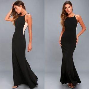 Lulus Romanticism Black Maxi Dress